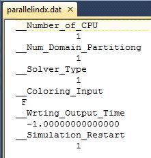 Default parallelindx.dat file