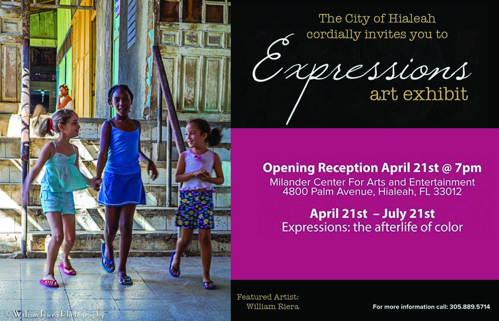Expressions: the Afterlife of Color. Group Art Exhibition. Milander Center for Arts and Entertainment. April - July, 2016. Hialeah, Florida.