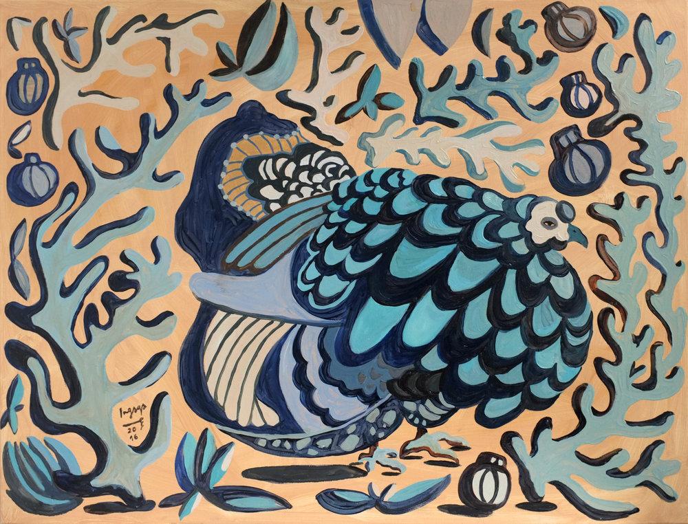 EXISTENCE BLUES  70 x 90 cm  Oil on canvas / 2016
