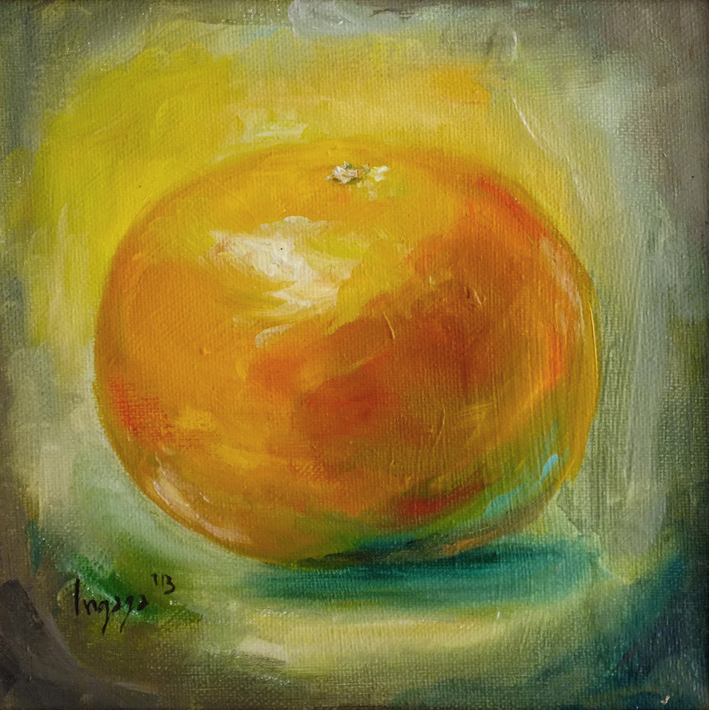 ORANGE LIGHT  20 x 20cm  Oil on canvas / 2014