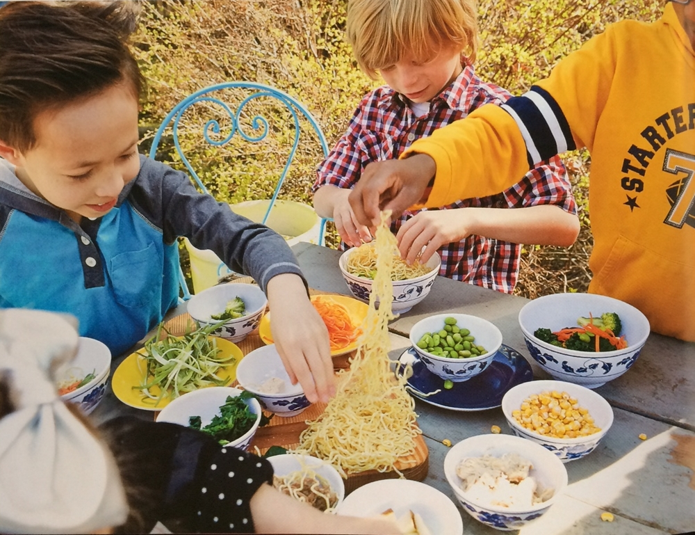 Excerpt from Chef Sawyers new book Noodle Kids: Around the World in 50 Healthy, Fun, Creative Recipes the Whole Family Can Cook Together