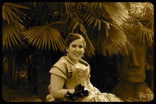 Marwell Hotel bride in garden Wedding photo cardiff best