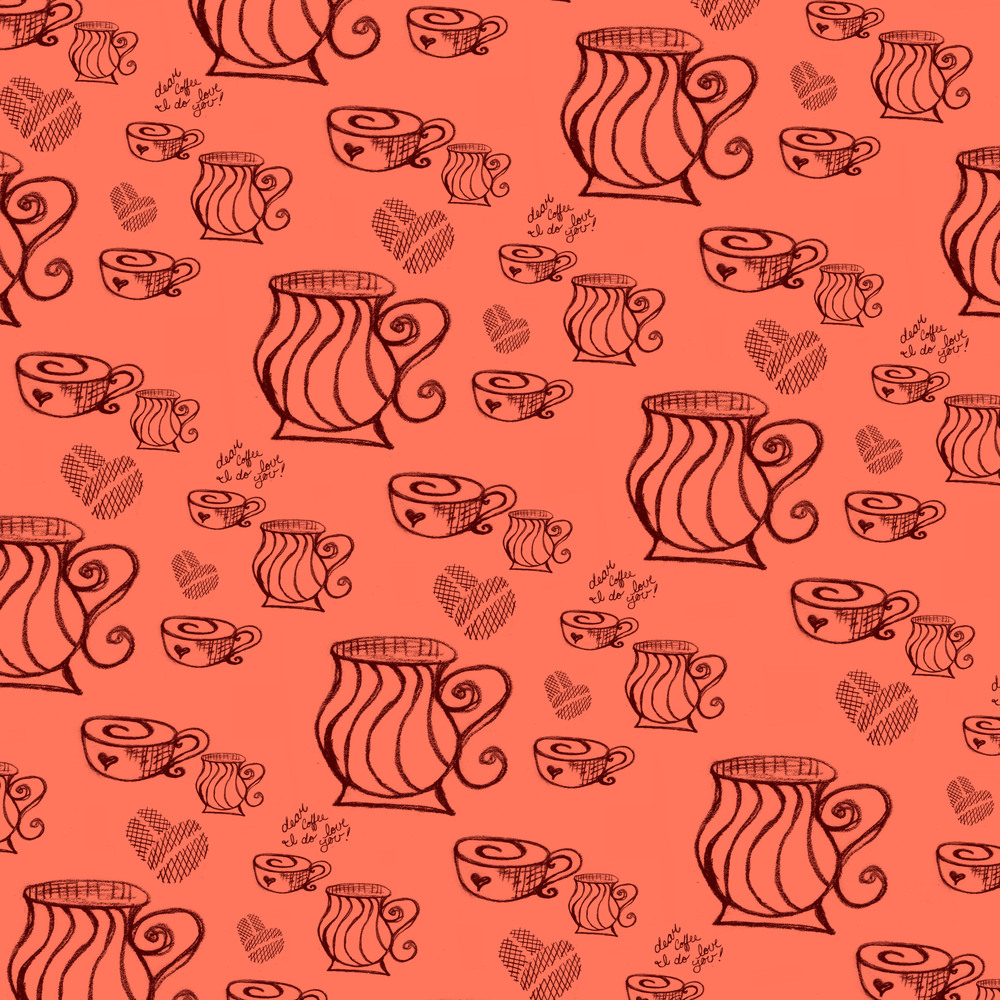 A fun pattern created for a blog post, you can see the post over at Dear Coffee, I Love You.