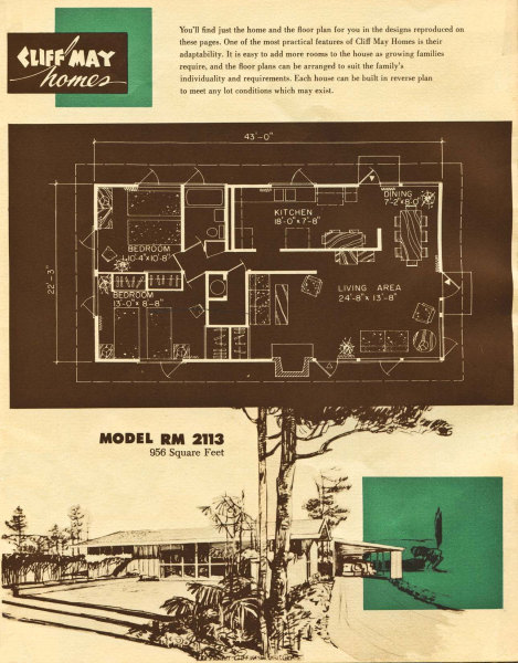 This copy of a cliff may original marketing piece shows the layout of this cliff may home (model rm 2113 is slightly large than this cliff may home.)