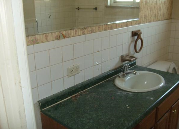 The previous bathroom