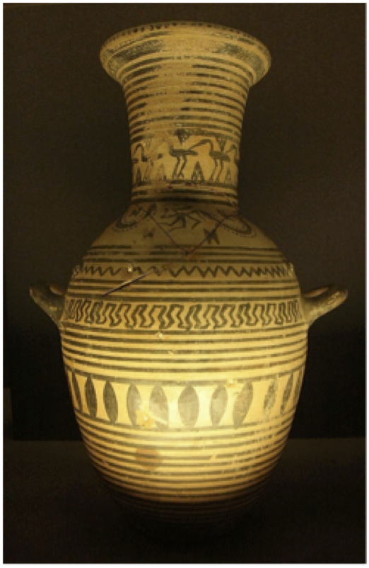SOURCE Minotaur, Attic bilingual eye-cup. Greek, c. 515 BCE. Art Resource, NY.
