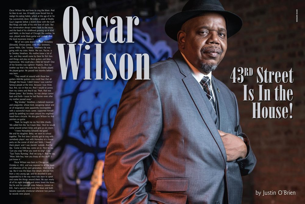 Oscar Wilson for Living Blues Magazine #237