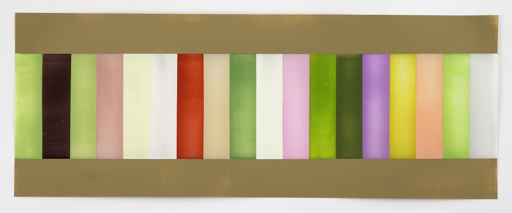 Each of the colors of spring, cocooned by all of the colors of spring. 9 x 24 inches, 2014