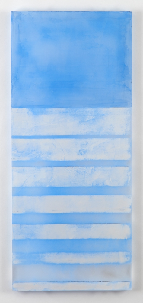 Sky & Snow, 30 x 13 x .75 inches, acrylic on plexiglass,  2016