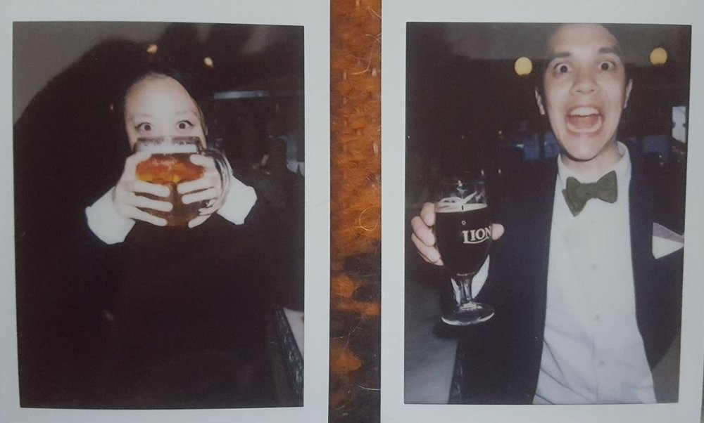 Happy hour in NYC (polaroid), 2017