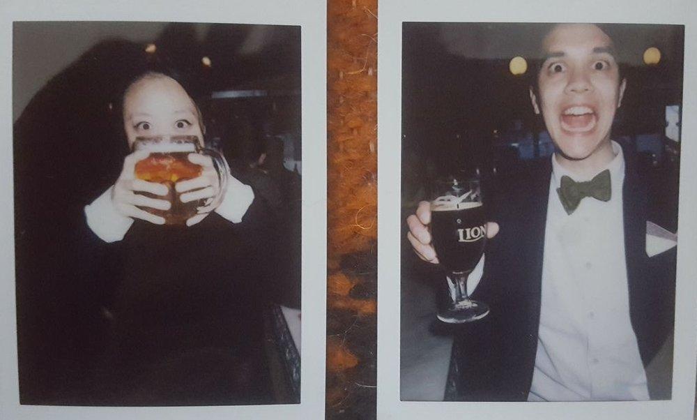 Happy hour in NYC (polaroid), 2017