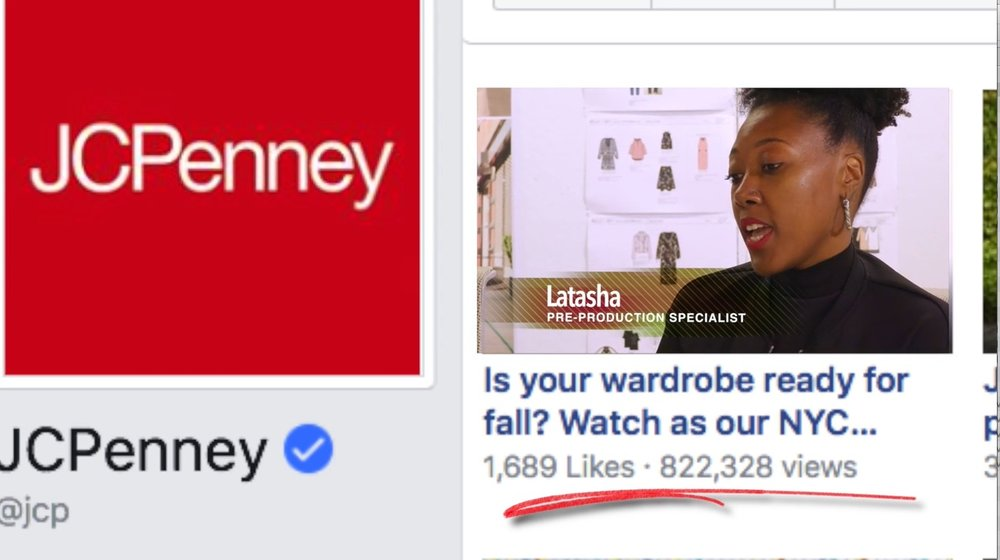 The Smart Influencer Campaign videos  generated more than 820,000 views on JCPenney's Facebook page in the first month