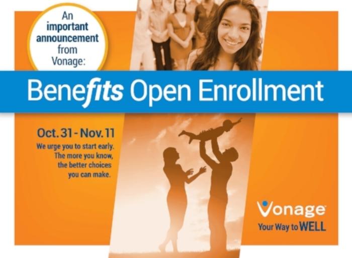 Vonage Employee Benefits Reminder Post Card