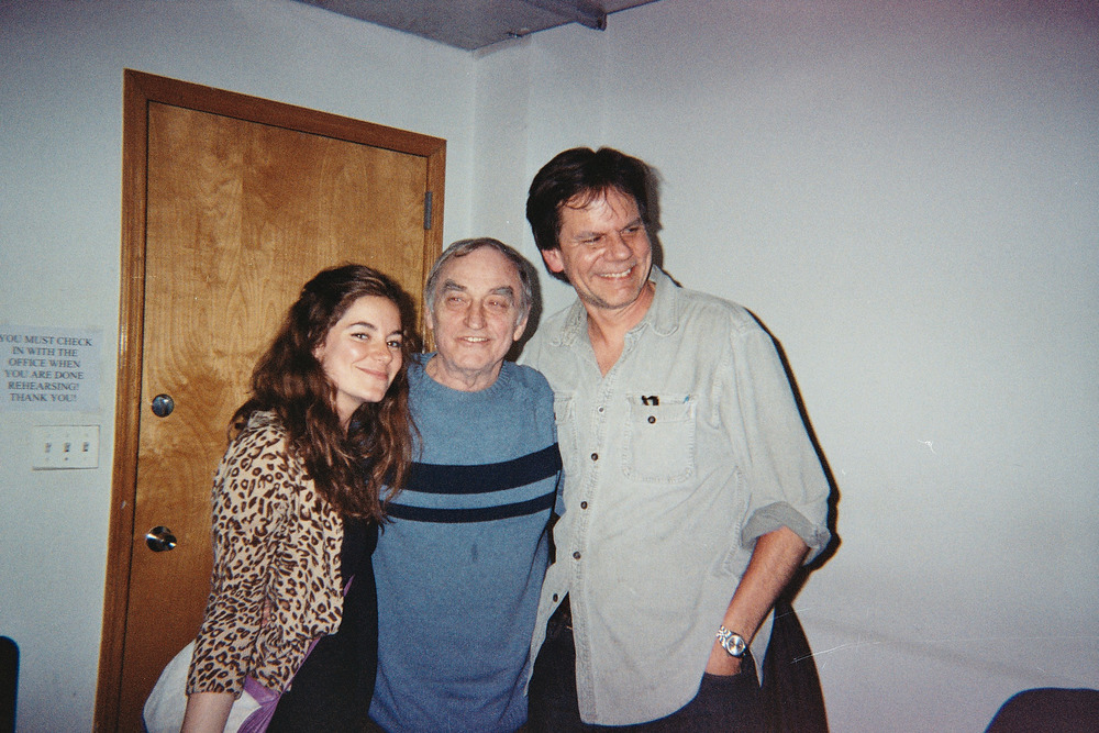 Peter backstage with Lanford Wilson