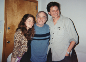 Peter w playwright Lanford Wilson and actress Jamie Neumann