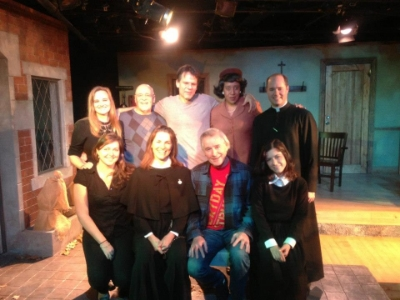 Peter w John Patrick Shanley and cast