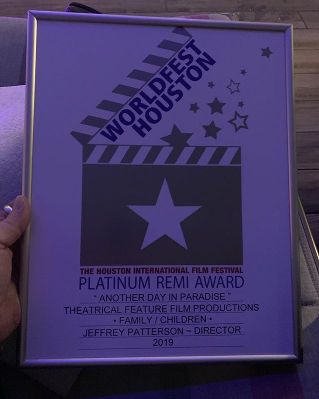 """Another Day in Paradise takes top honors at Houston Worldfest with the """"Platinum Remi Award"""" 🥇  The WorldFest-Houston Remi Award is named after the remarkable artist Frederic Remington, who captured the spirit of Texas and The West with his brilliant sculptures and paintings in the 1800's. . . . #adip #adipmovie #anotherdayinparadise #worldfesthouston #worldfest #remiaward #jefferypatterson #allisoneastwood #billyzane"""