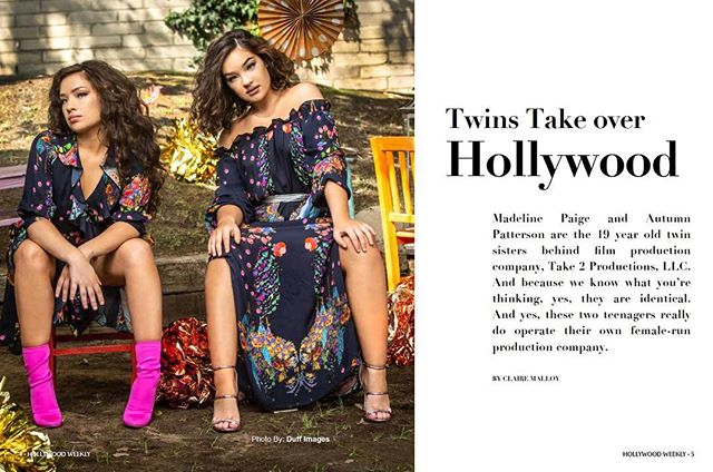 Madeline Paige and Autumn are TAKING OVER HOLLYWOOD! Have you gotten your copy of Hollywood Weekly from @barnesandnoble ? Grab yours before they are all gone! 👏🏼👏🏼👏🏼 . . . #hollywoodweekly #onceuponadream #take2productions #filmmaker
