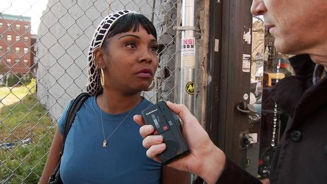 Clay Pigeon interviews Stacie who is worried about the changes in Harlem.