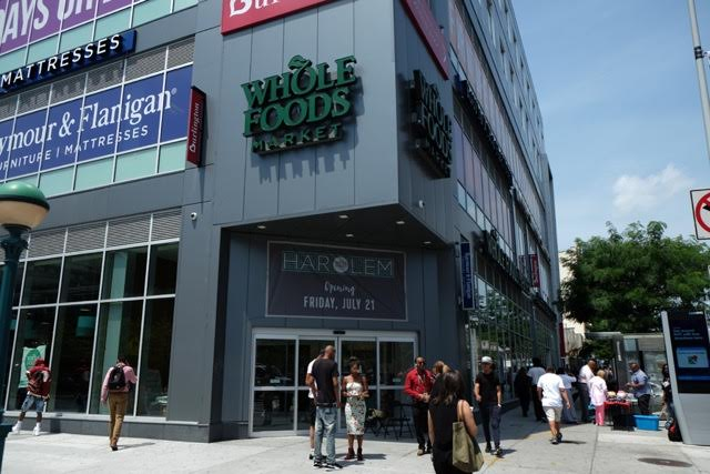 That same corner lot is now home to the new Whole Foods in Harlem.