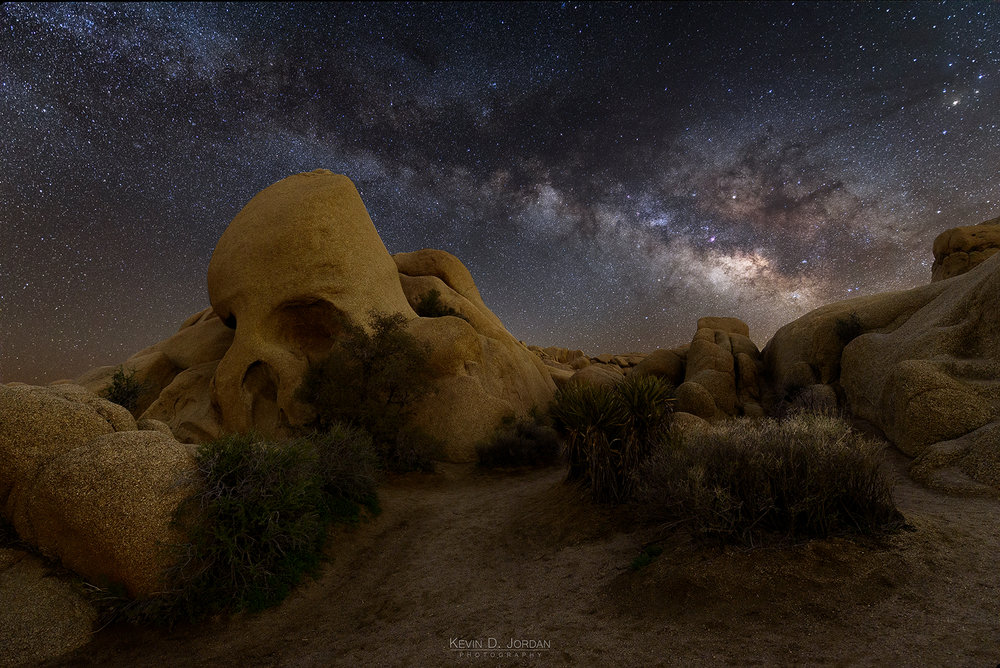 Milky Way Over Skull Rock
