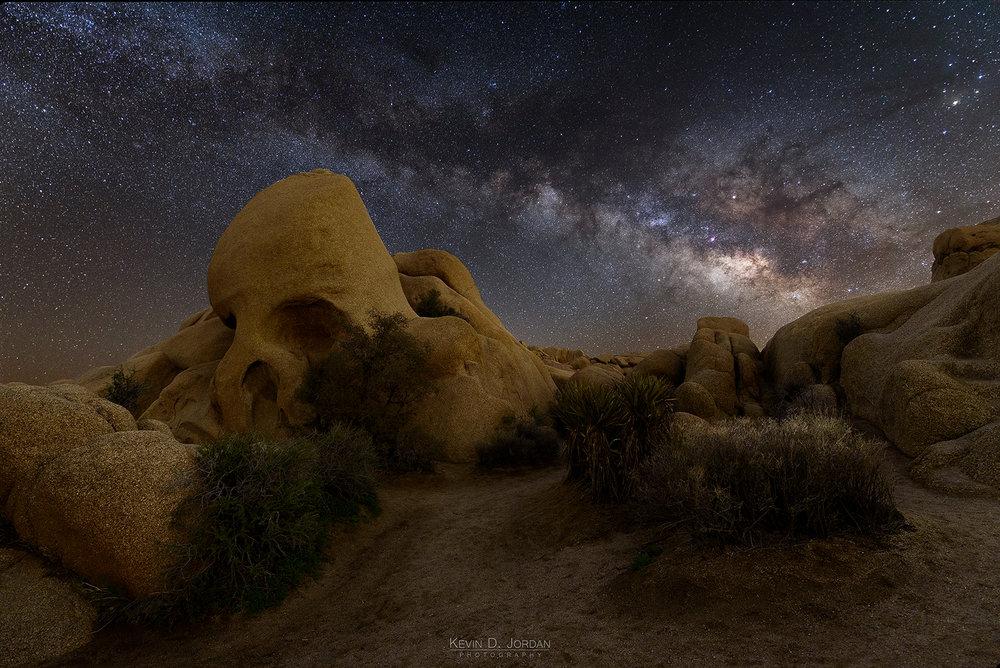 Skull Rock Milky Way