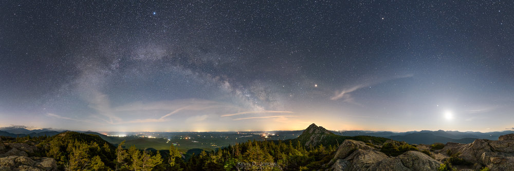 Milky Way and Moonset Over Mount Chocorua