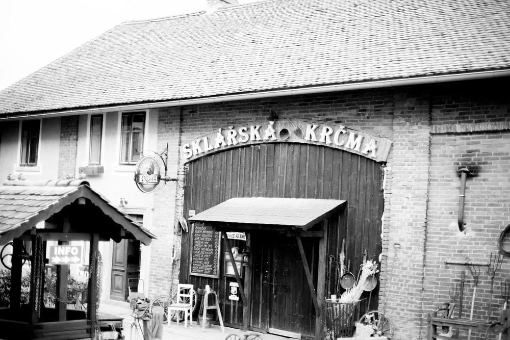 ^ Sklárská Krčma, where we learned glassblowing in Lindava