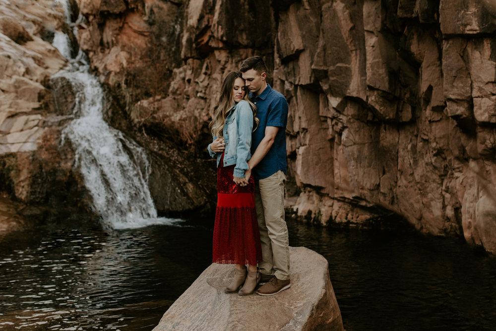 Waterwheel waterfall hike in Payson Arizona