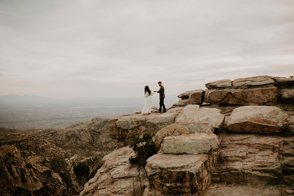Engagement Session at Mount Lemmon in Tucson Arizona at the Cliffs at Windy Vista Point