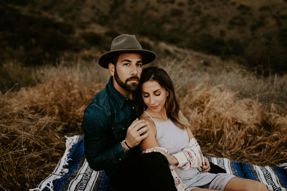 Engagement session in the Santa Monica Mountains in Malibu, CA