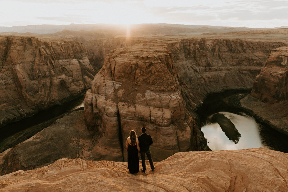 Engagement Session at Horseshoe Bend in Page, Arizona