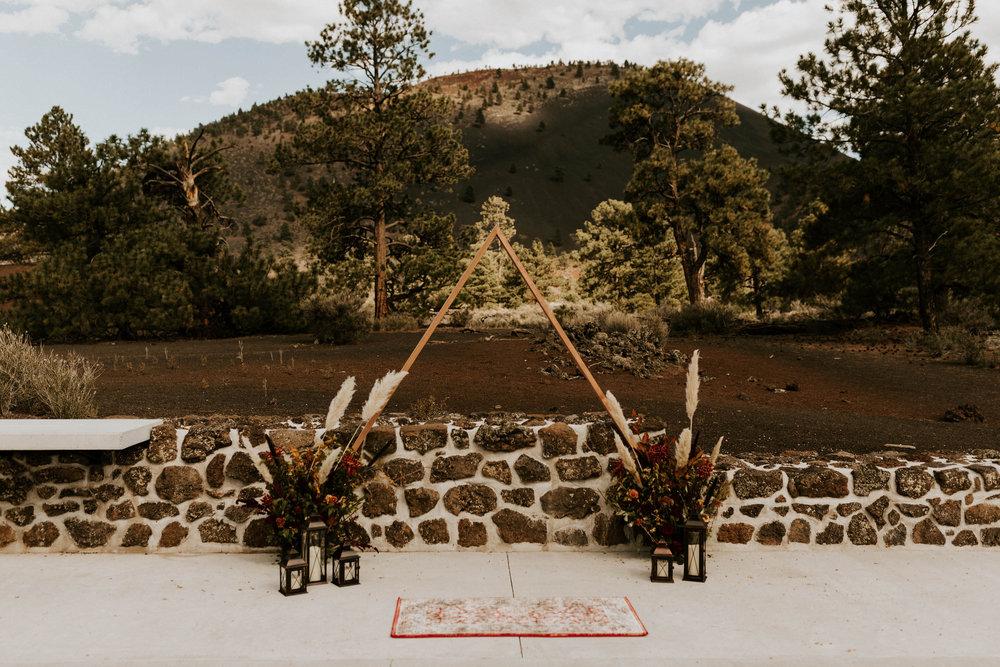 Sunset Crater Volcano Ceremony Space in Flagstaff Arizona