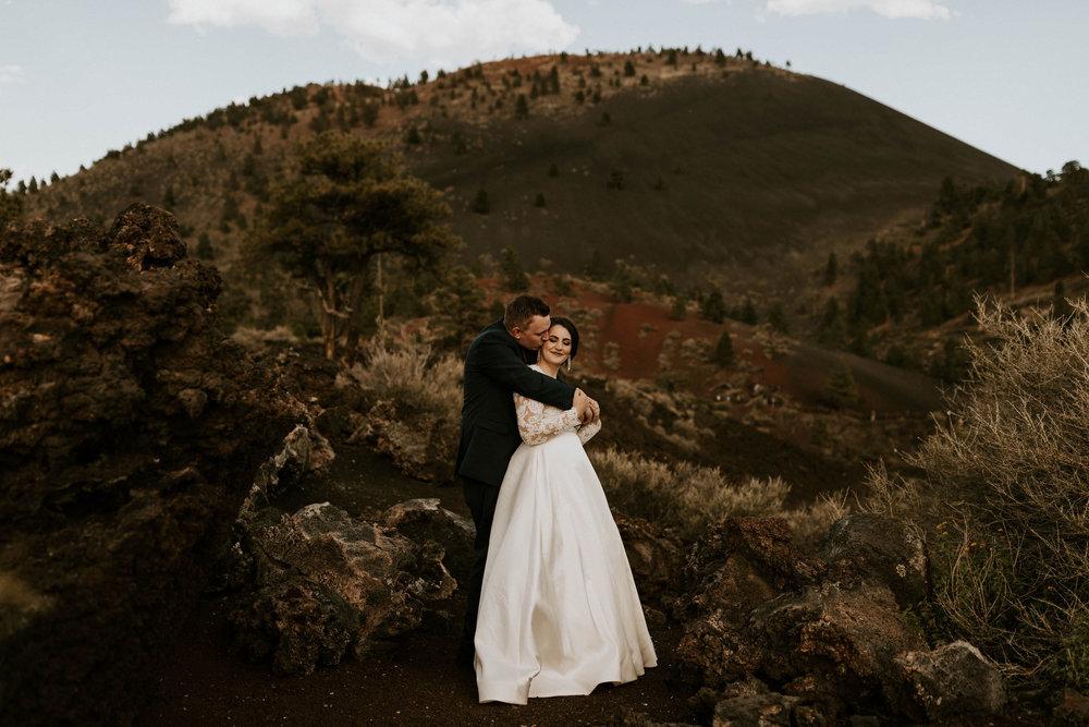 Wedding at Sunset Crater Volcano in Flagstaff Arizona