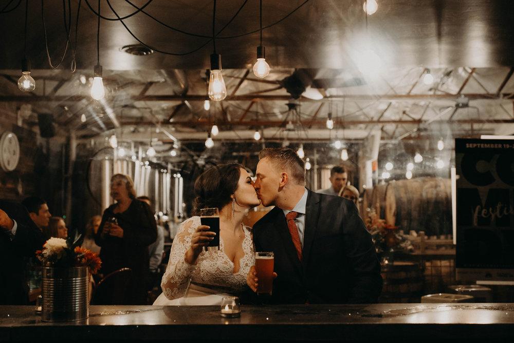 Wedding at Dark Sky Brewery in Flagstaff Arizona