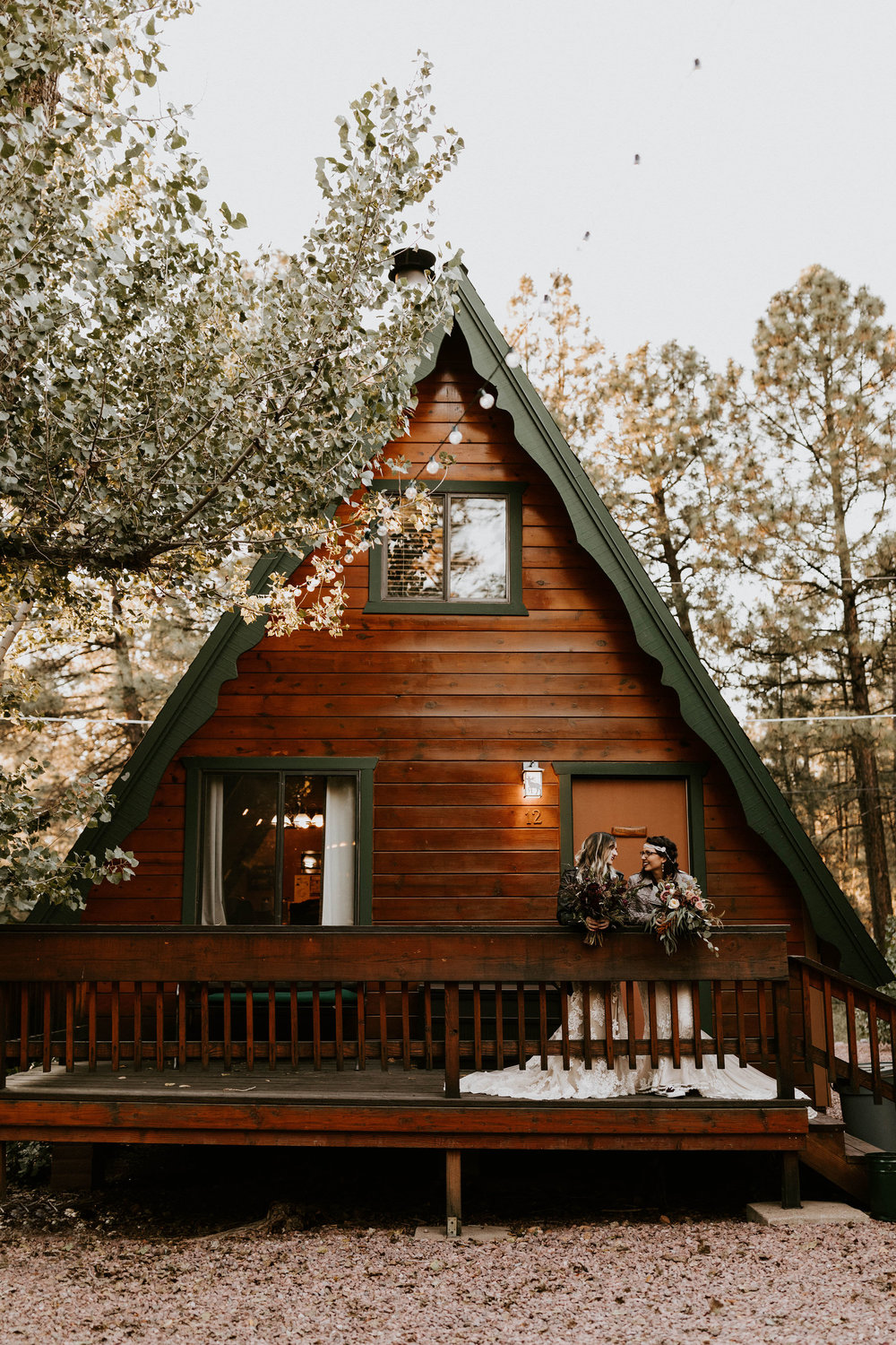 A-frame Cabins on Strawberry Hill in Arizona