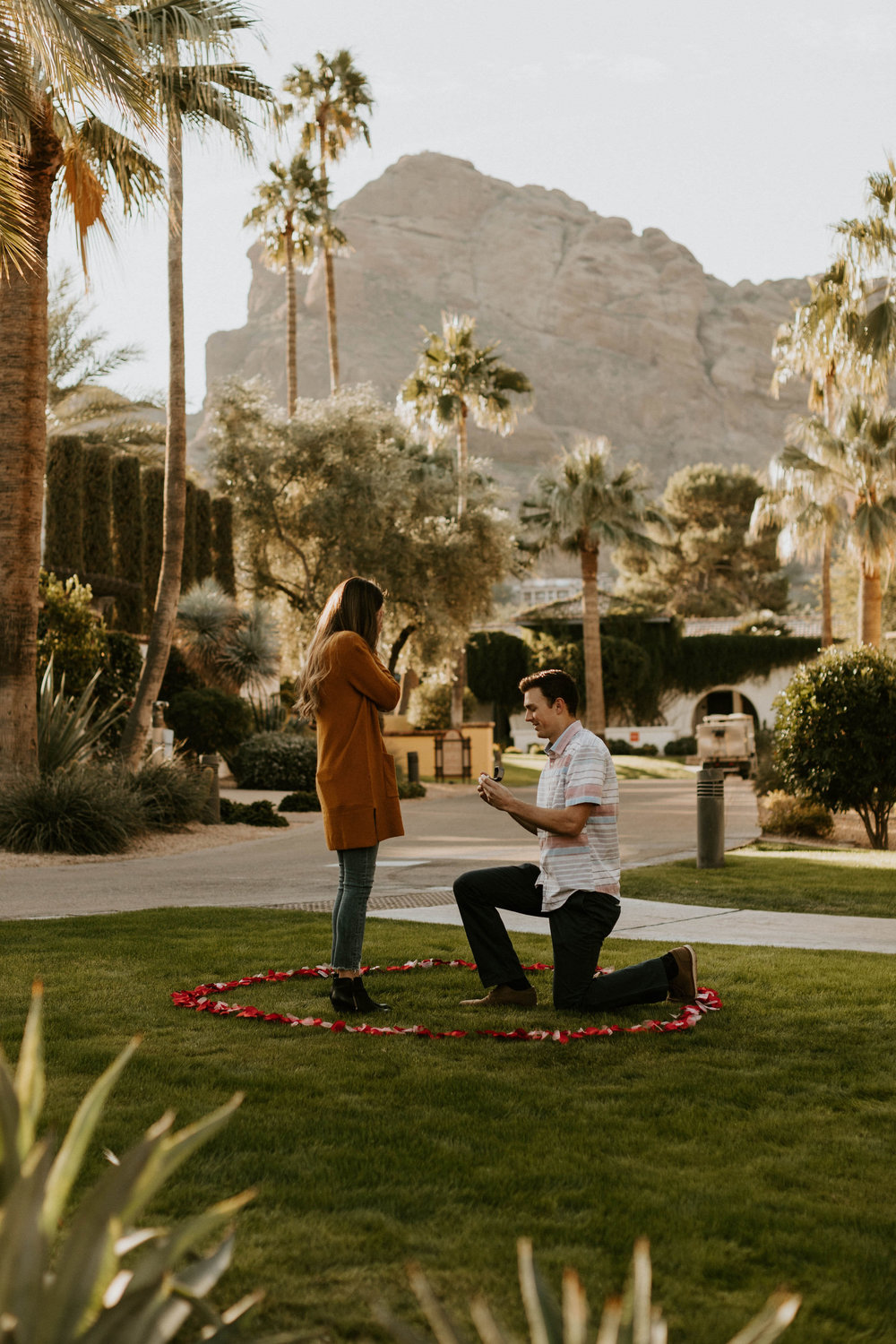 Proposal at Omni Resort Camelback Mountain in Scottsdale Arizona