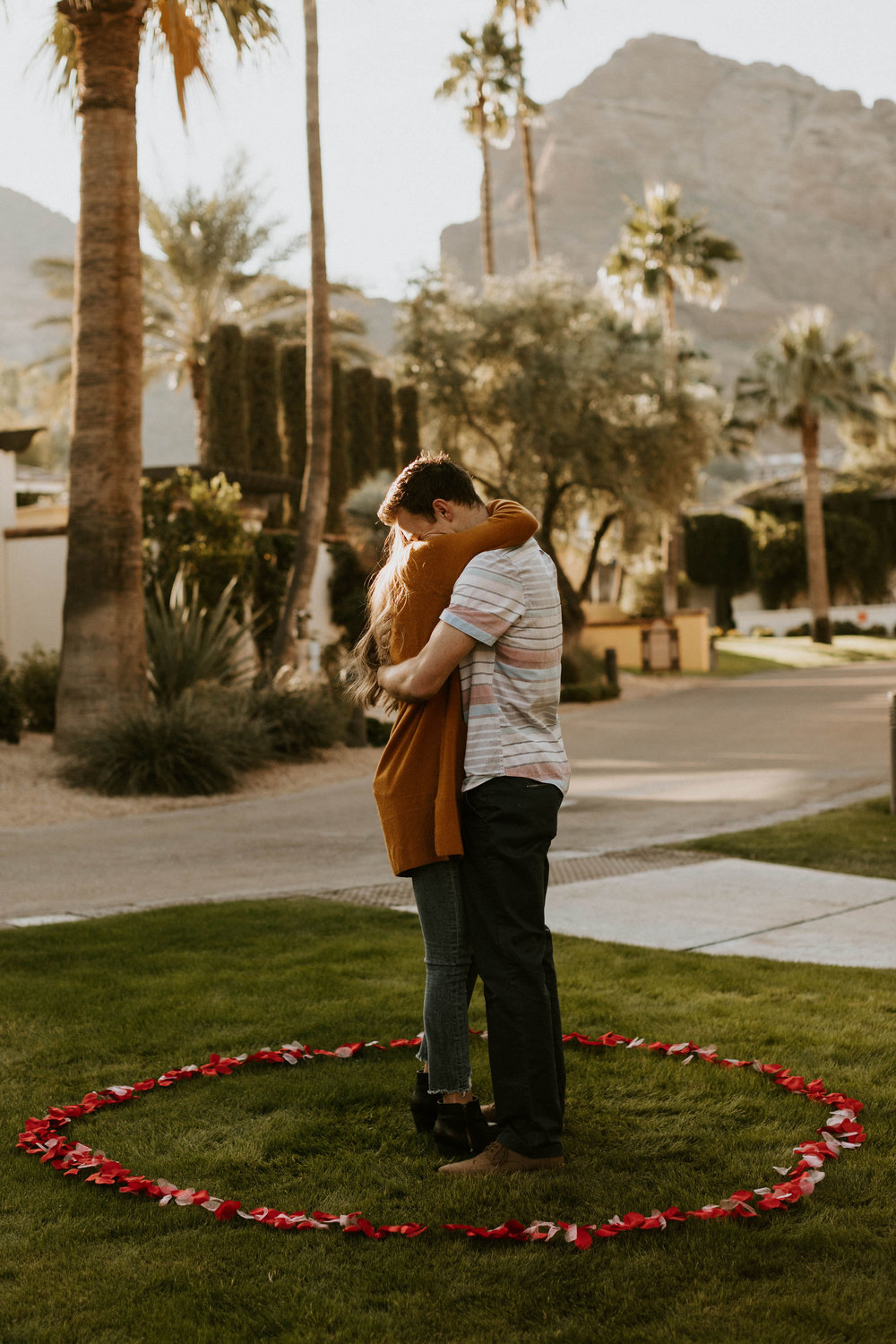 Surprise proposal at Omni Resort at Camelback Mountain in Scottsdale Arizona
