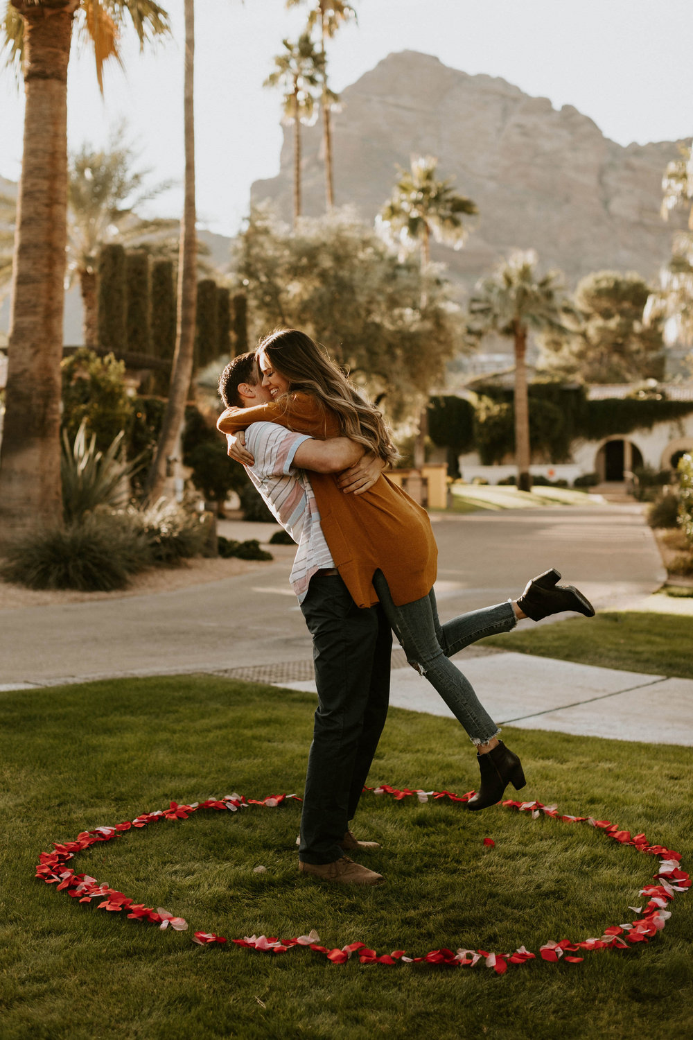 Engagement at Omni Resort Camelback Mountain in Scottsdale Arizona