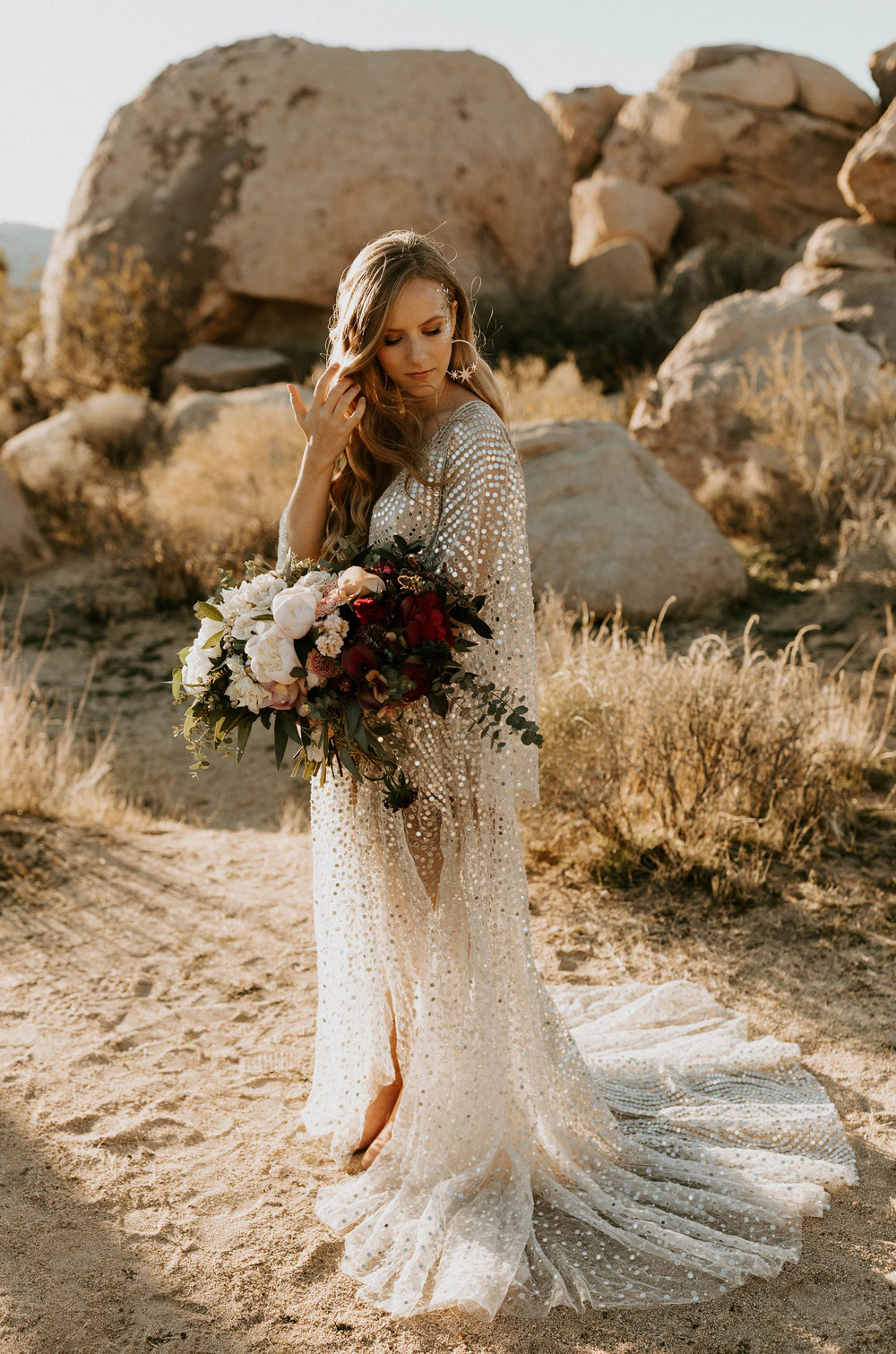 Bride in Joshua Tree National Park