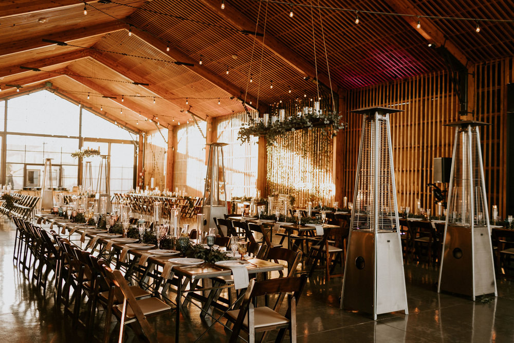 Reception space at Paseo Wedding Venue in Phoenix, Arizona