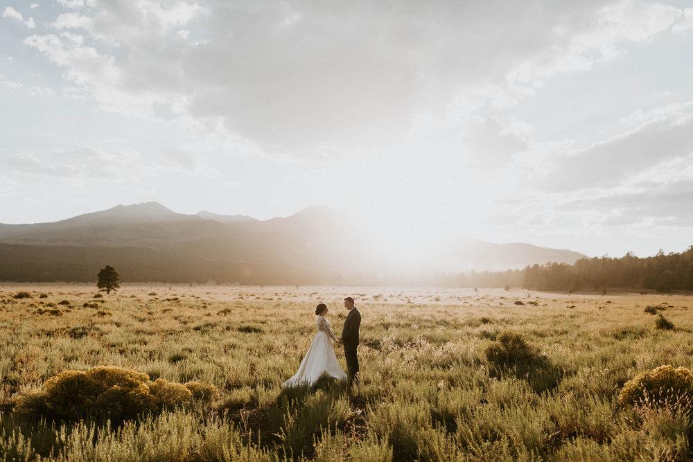 Wedding at Sunset Crater Volcano in Flagstaff, Arizona