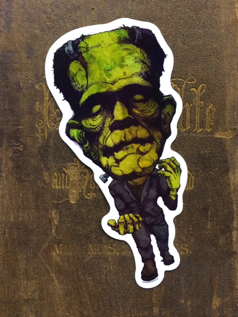 Frankenstein's Creature Vinyl Sticker    $5    Click image to purchase