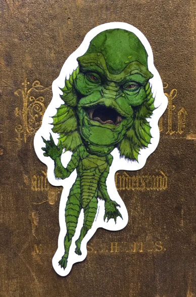 Creature From the Black Lagoon Vinyl Sticker    $5    Click image to purchase
