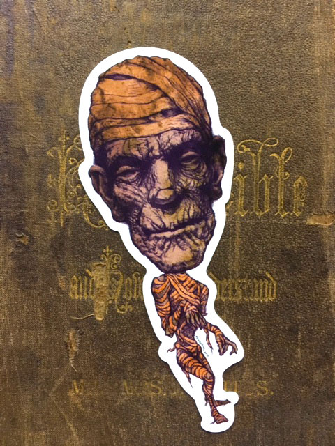 The Mummy   Vinyl Sticker    $5    Click image to purchase