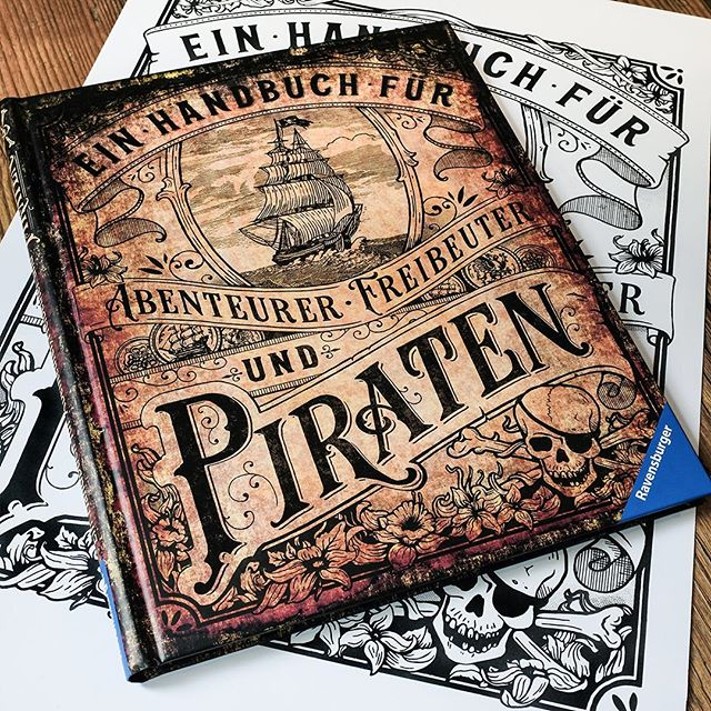 Last year I created this book cover for #ravensburger! It is a nice children's book about pirates ☠️💣 available at www.ravensburger.de The interior of the book as well as the ship is illustrated by Dorina Teßmann ✨