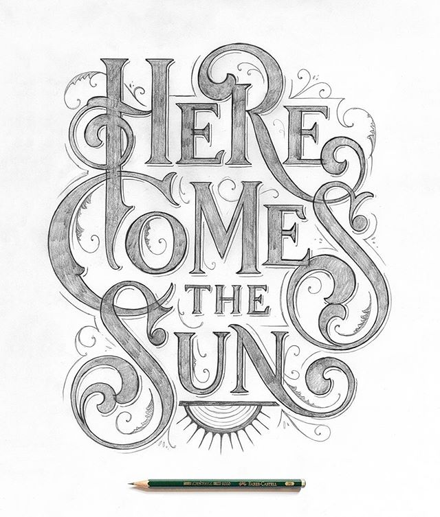 Here Comes the Sun! This one was on my list for a while now. So here we go! ☀️☀️✏️