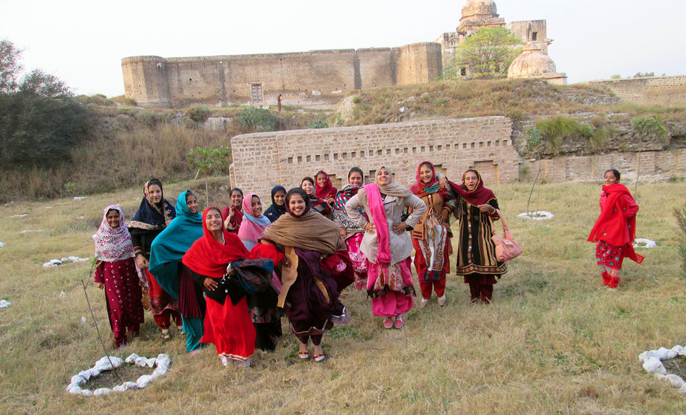 Girls Playing outside Katas Raj Temples.JPG