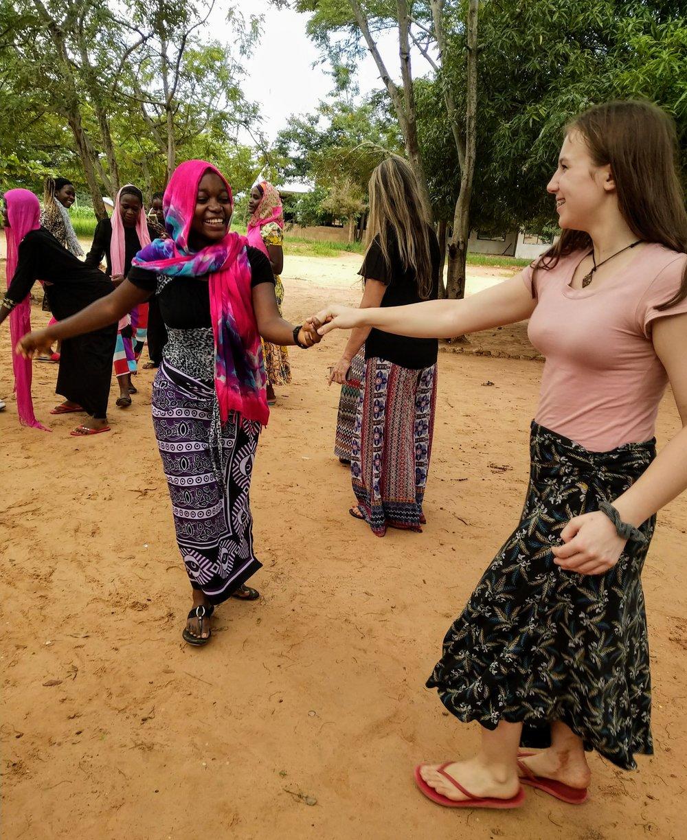 Katia and Zuwena Dancing