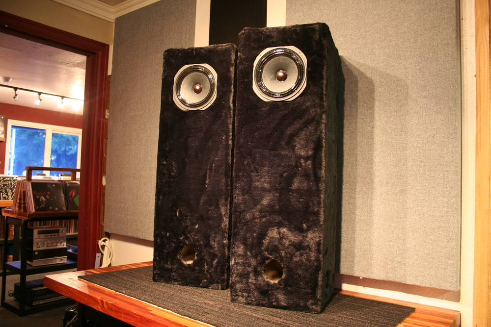 Gig Harbor Audiogha Custom Black Fur Full Range Speakers